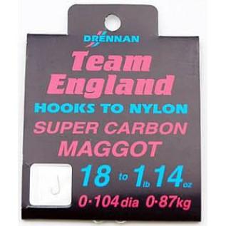Готовые поводки Super Carbon Maggot Team England